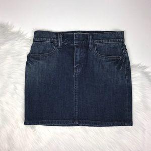 GAP Stretch Jeans Dark Wash Denim Mini Skirt 2004